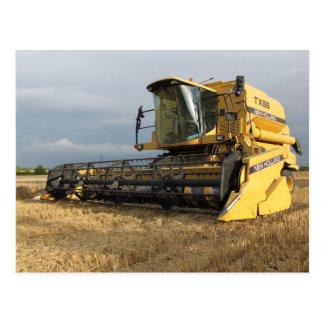 Combine Harvester Postcard
