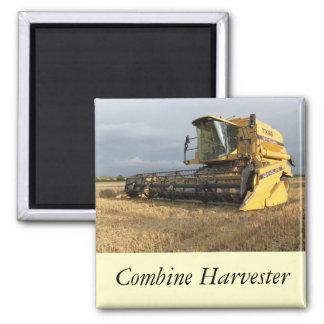 Combine Harvester Square Magnet