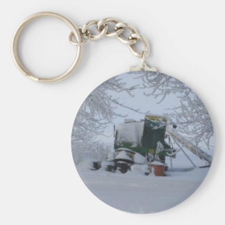 Combine in the Snow Basic Round Button Key Ring