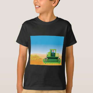 Combine Mows and Harvests crops vector T-Shirt