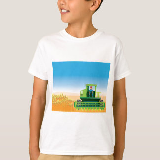 Combine Mows and Harvests crops vector T-shirts