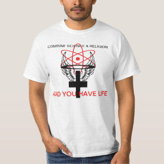 Combine science and religion. T-Shirt