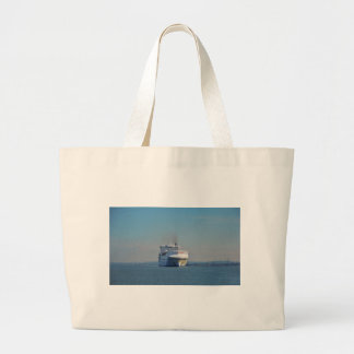 Combined Ferry And Container Ship Tote Bag