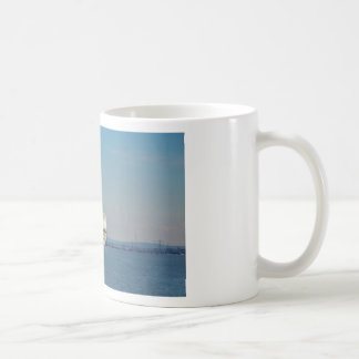 Combined Ferry And Container Ship Basic White Mug