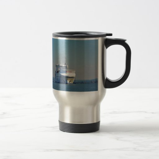 Combined Ferry And Container Ship Coffee Mug