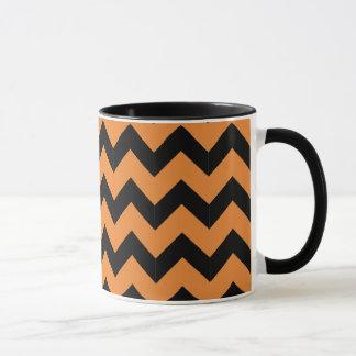 Combo 11oz Black & Orange Zig Zag Mug