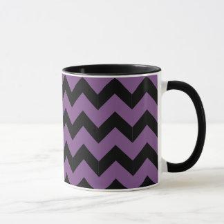 Combo 11oz Black & Purple Zig Zag Mug