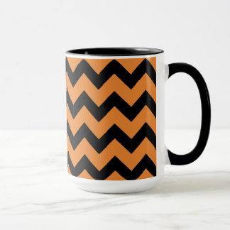 Combo 15oz Black & Orange Zig Zag Mug