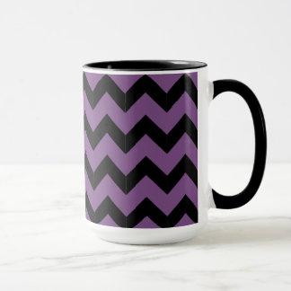 Combo 15oz Black & Purple Zig Zag Mug