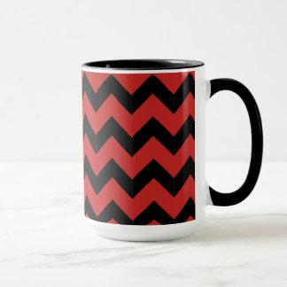 Combo 15oz Black & Red Zig Zag Mug
