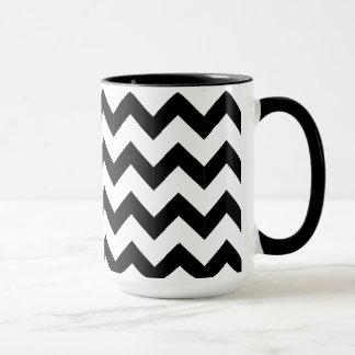 Combo 15oz Black & White Zig Zag Mug