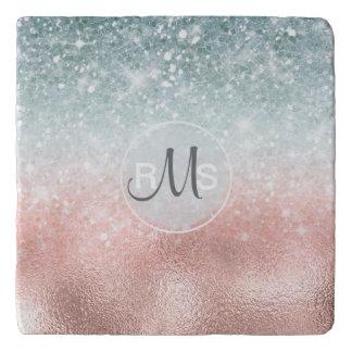Combo Glitter Gradient Glass ID434 Trivet