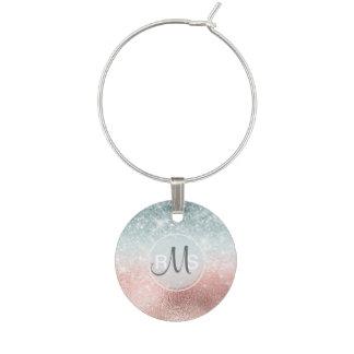Combo Glitter Gradient Glass ID434 Wine Charm