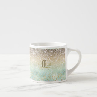 Combo Glitter Gradient Opal Gold ID435 Espresso Cup