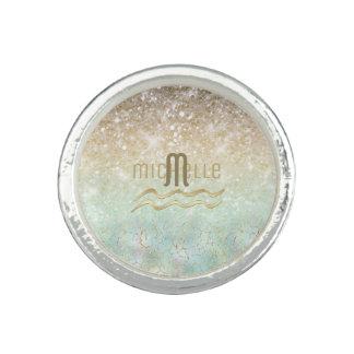 Combo Glitter Gradient Opal Gold ID435 Ring