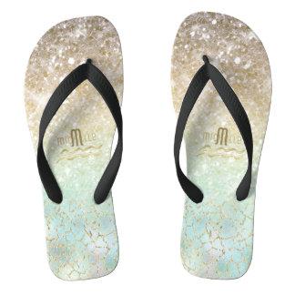 Combo Glitter Gradient Opal Gold ID435 Thongs