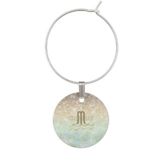 Combo Glitter Gradient Opal Gold ID435 Wine Charm