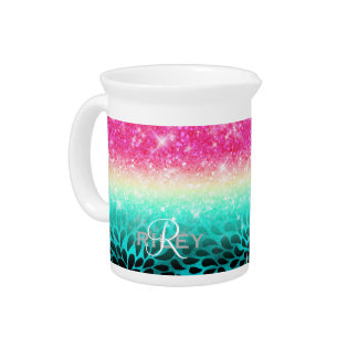 Combo Glitter Gradient to Petals ID433 Pitcher