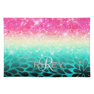 Combo Glitter Gradient to Petals ID433 Placemat
