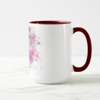 Combo, mug, 15oz, maroon, ringer, handle, custom mug