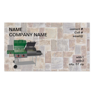 combo smoker bbq grill Double-Sided standard business cards (Pack of 100)