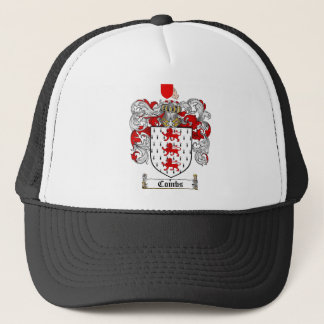 COMBS FAMILY CREST -  COMBS COAT OF ARMS TRUCKER HAT
