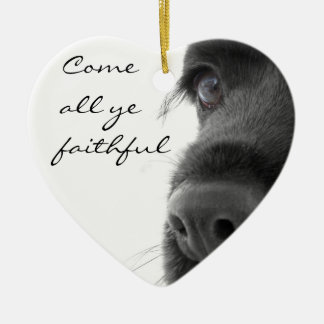 """Come All Ye Faithful"" Spaniel Ornament"