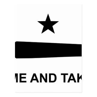 Come and take it flag.jpg postcard