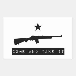 COME AND TAKE IT - Mini-14 Ranch Rifle (Stripe) Rectangular Sticker