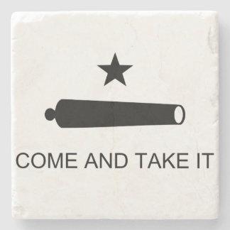 Come and Take It Stone Beverage Coaster