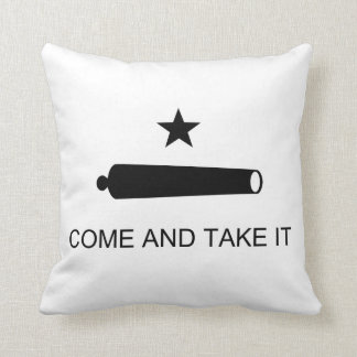 Come And Take It Texas Flag Battle of Gonzales Cushion