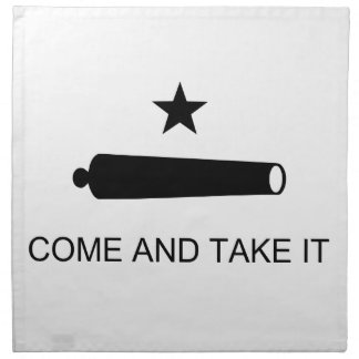 Come And Take It Texas Flag Battle of Gonzales Napkin