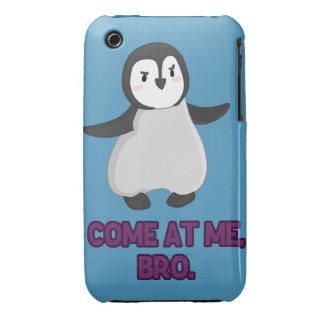 Come At Me, Bro Penguin iPhone 3 Case-Mate Case