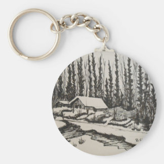 Come Flow Gently Home Key Ring