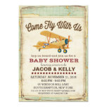 Come Fly Baby Shower Aeroplane Travel Invitation