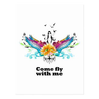 Come fly with me postcard