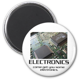 Come Get You Some Electronics 6 Cm Round Magnet