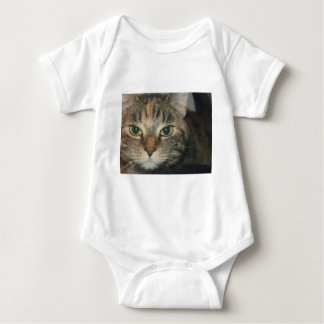 """""""Come if you dare"""" says the cat Baby Bodysuit"""