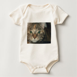 """Come if you dare"" says the cat Baby Bodysuit"