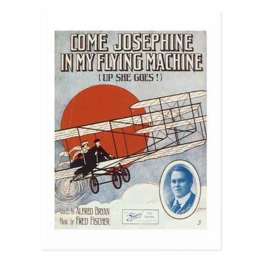 Come Josephine In My Flying Machine Vintage Songbo Post Cards