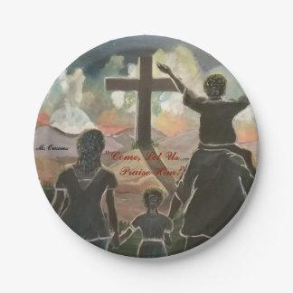 """""""Come, Let Us Praise Him!"""" Paper Plates"""