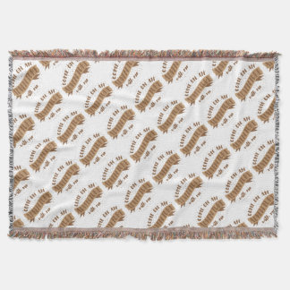 come on an adventure with me throw blanket