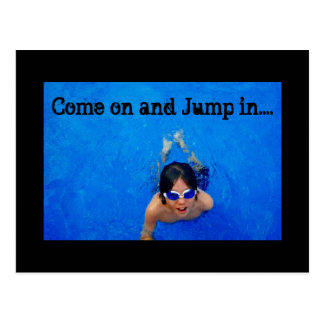 Come on and Jump in postcard