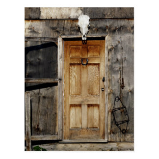 """Come On In"" Rustic Doorway gifts Postcard"