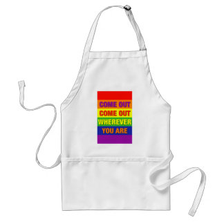 Come out come out wherever you are! standard apron