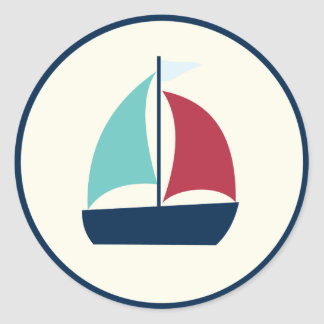 come sail away {stickers & labels} classic round sticker