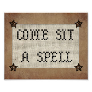 Come Sit A Spell Print