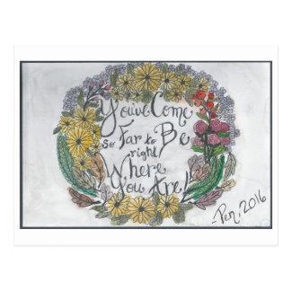 Come So Far Wreath postcard (watercolor & ink)