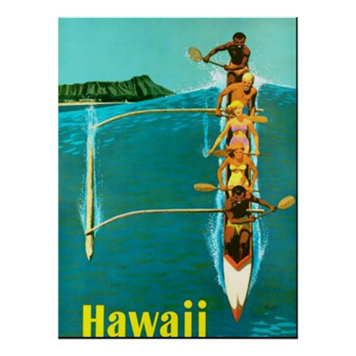 Come to Hawaii vintage poster Posters