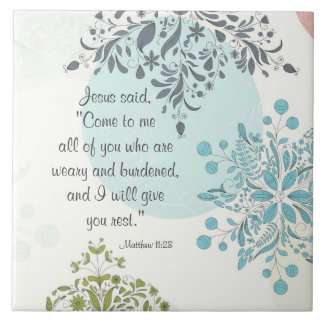 Come to Me I will give you rest Matthew 11 Vintage Ceramic Tile